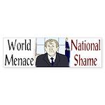 W: World Menace, National Shame (Sticker