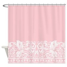 Light Pink Damask Shower Curtain