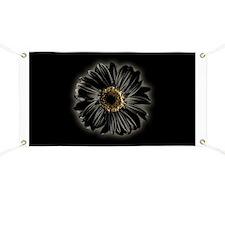 Black Daisy Banner