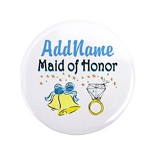 """MAID OF HONOR 3.5"""" Button (100 pack)"""