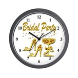 BRIDAL PARTY Wall Clock