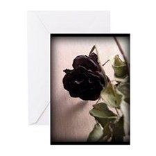 Gothic Dead Rose Greeting Cards (Pk of 20)