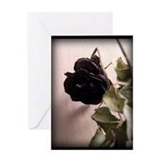 Gothic Dead Rose Greeting Card