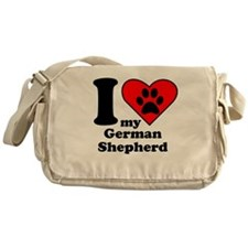 I Heart My German Shepherd Messenger Bag