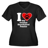 I Heart My German Shorthaired Pointer Plus Size T-