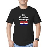 #1 Croatian Grandpa T-Shirt