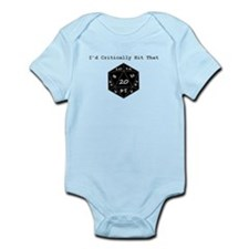 I'd Critically Hit That - Black Infant Bodysuit