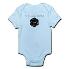 I'd Critically Hit That - Black Infant Bodysuit