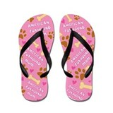 American Foxhound Mom Gift Flip Flops