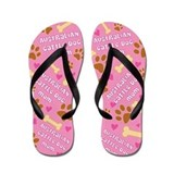 Australian Cattle Mom Gift Flip Flops