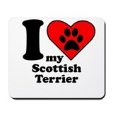 I Heart My Scottish Terrier Mousepad