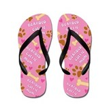 Bearded Collie Mom Gift Flip Flops