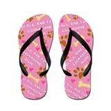 Black Tan Coonhound Mom Gift Flip Flops