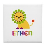 Ethen Loves Lions Tile Coaster