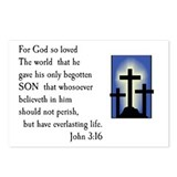 John 3:16 Postcards (Package of 8)