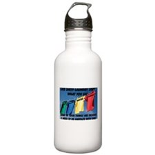 Like Dirty Laundry, Sort What You Say Water Bottle
