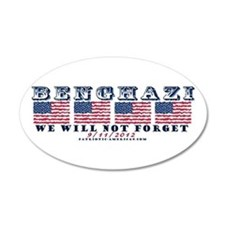 Benghazi - Never Forget (with Date) Wall Decal