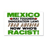 &amp;quot;Now Who's Racist?&amp;quot; Car Magnet 20 x 12
