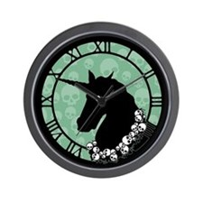 Unicorn With Skulls Wall Clock