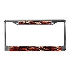 Art Nouveau Blood Motif License Plate Frame