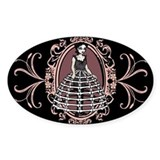 Gothic Girl In Bone Hoopskirt Decal