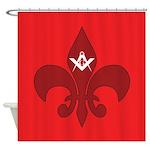 Masonic Fleur De Lis Shower Curtain