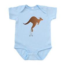 Cute kangaroo mom and baby Body Suit
