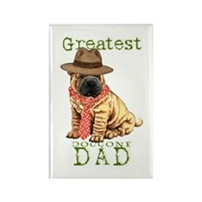 Shar-Pei Dad Rectangle Magnet