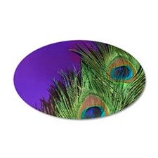 Purple Foil Peacock Wall Decal