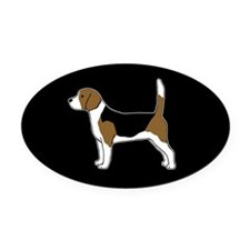 Beagle Oval Car Magnet