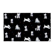 Block Party Westies 3'x5' Area Rug