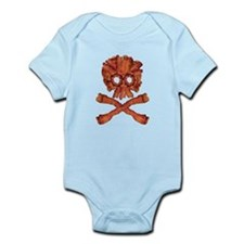 Bacon Skull and Crossbones Body Suit