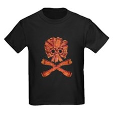 Bacon Skull and Crossbones T-Shirt