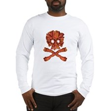 Bacon Skull and Crossbones Long Sleeve T-Shirt