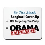 Benghazi Cover Up Impeach Obama Mousepad
