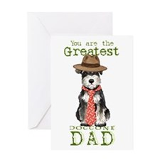 Mini Schnauzer Dad Greeting Card