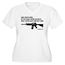 Jesus AR-15 Plus Size T-Shirt
