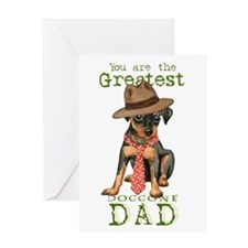 Min Pin Dad Greeting Card