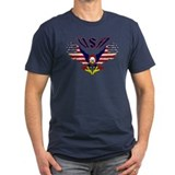 'Eagle w/ Flag Wings (USA)' T-Shirt