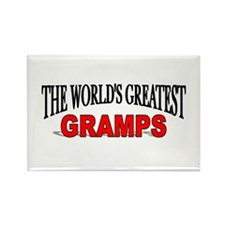 """The World's Greatest Gramps"" Rectangle Magnet"