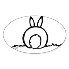 Cotton Tail Oval Decal