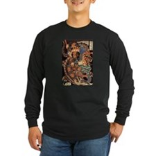 Miyamoto Musashi Fights Nue Long Sleeve Black Tee