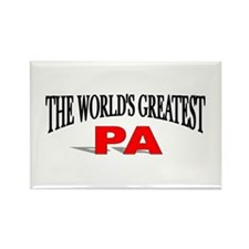 """The World's Greatest Pa"" Rectangle Magnet"