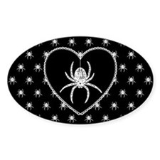 Gothic Spider Heart Decal
