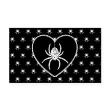 Gothic Spider Heart Rectangle Car Magnet