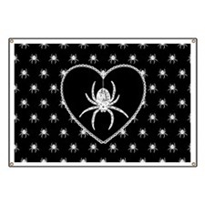 Gothic Spider Heart Banner
