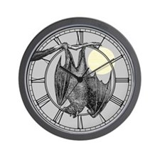 Hanging Bat Wall Clock