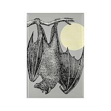 Hanging Bat Rectangle Magnet