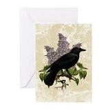 Lilacs And Crow Greeting Cards (Pk of 10)