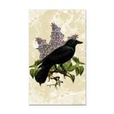 lilac-and-crow_12x18.jpg Rectangle Car Magnet